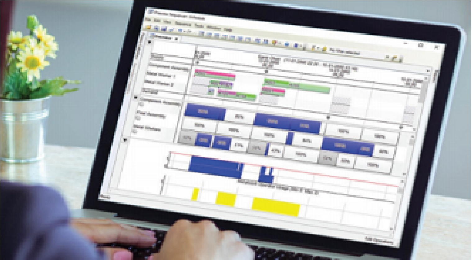 APS (Advanced Planning and Scheduling) решение от продуктовото портфолио на Siemens PLM